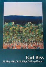 Signed Earl Biss K.Phillips Gallery Denver Poster 1981