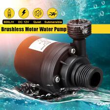 18f4a6615b4 800L H 12V DC 5M Hot Water Pump Circulation Solar Brushless Motor  Submersible UK