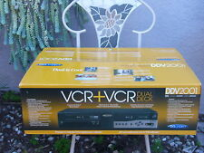 New GoVideo Ddv2001 Vhs Player Dual Deck Vcr video cassette recorder