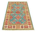 Rectangular Hand knotted carpet Ghazni Chubi Colors Green 147x97 CM