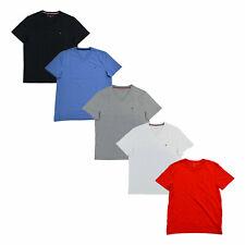 Tommy Hilfiger мужская футболка, V-образным вырезом футболка повседневный коротким рукавом твердый топ флаг с логотипом