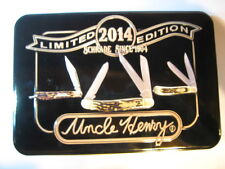 Uncle Henry-Schrade Limited 2014 Edition Knife Set-Never Sharpened in Metal Box