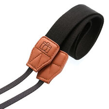 Fashion Camera Shoulder Neck Belt Polyester Strap Black For Olympus Canon Nikon