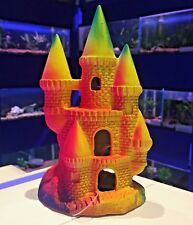 Colourful Fluoro Ceramic Princess Castle Aquarium Fish Tank Ornament 323