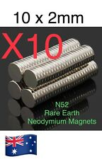 N52 10X2mm Super Strong Round Disc Fridge Rare Earth Neodymium Magnets