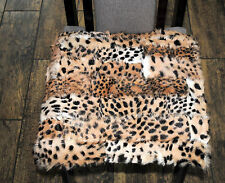 Amaizing cushion covers , pillows - Seat cushion Seat cover made of real fur,