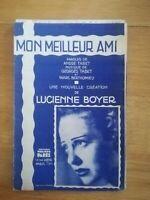 Partition ancienne - Mon meilleur ami - Tabet Bethomieu Lucienne Boyer