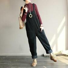 Women's Corduroy Sleeveless Straight Trousers Jumpsuits Vintage Hallen Playsuits