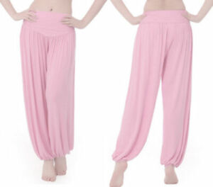 Auction Women Yoga Ali Pants Gypsy Genie Baba Harem Trousers Baggy Pink M