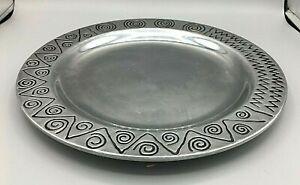 "Wilton Armetale Reggae Small Round Cheeseboard Plate #820534  12 1/2 "" Diameter"