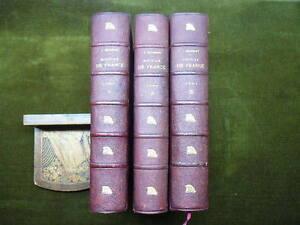 HISTOIRE DE FRANCE J. Michelet in4 relié mi chagrin 3 vol. Ed. Rouff