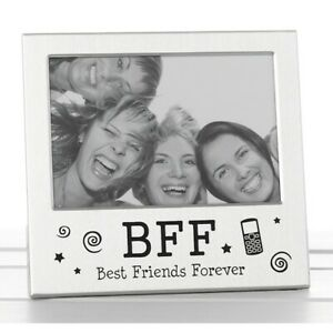 BFF Best Friends Forever Silver Photo Picture Frame Friendship Day Gift 5 x3.5