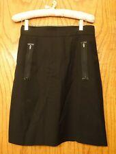 State Of Claude Montana 1990S Black Wool Mini Skirt Zippered Pockets Size 42 8