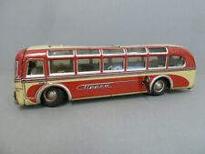 Tipp & Co Bus rot creme Reisebus m. Uhrwerk ca. 1949, original, bespielt selten
