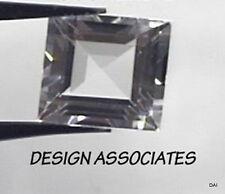 DIAMOND QUARTZ 7 MM SQUARE CUT  2 PIECE SET ALL NATURAL AAA