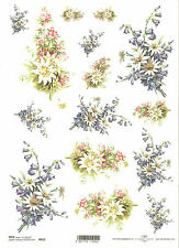 Rice Paper for Decoupage Scrapbooking, Bouquets of Flowers ITD R652
