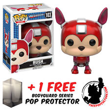 FUNKO POP MEGA MAN RUSH VINYL FIGURE + FREE POP PROTECTOR