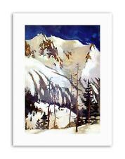 MOUNTAINS FRANCE SAVOIE ALPINE MOUNTAIN Poster Painting Canvas art Prints