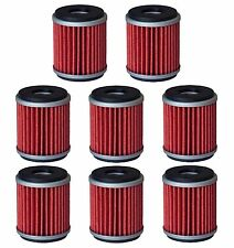 8 Oil Filter Filters for 03-17 Yamaha WR250F WR250X WR450F XT250 YZ250F YZ450F