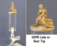 USMC lady  as beer tap