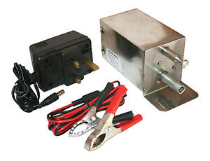 Stainless Steel Electric Cypriot BBQ Motor Spit Cyprus Grill Rotisserie 12/240V