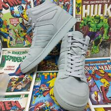 adidas mens dineties trainers size 9.5 grey high tops shoes eu 44 sneakers
