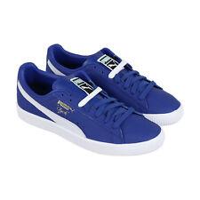 Puma Clyde Core 36929305 мужская синяя кожа классические низкие кроссовки обувь
