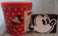 """Vintage Mickey Mouse & Tanglefoot Tin Bristol Ware - Disney Soap - 1"""" Rubber Toy"""