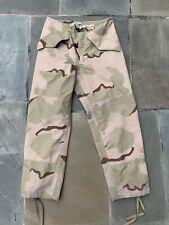 Cold/Wet Weather Gore-Tex Gore-Seam Pants Small Regular Desert Camo DCU Army