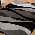 Flair Rugs Sincerity Moderno Contorno Alfombra Negro 120cm x 170cm (4ft x 168cm)