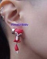 Ceramic Butterfly Drop/Dangle Costume Earrings
