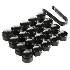20x 17mm Negro Aleación rueda tuerca cubre tapas universal para bloqueo de coche