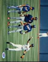 Ivan Rodriguez 1992 Psa/dna Signed Original Image 1/1 8x10 Photo Autograph