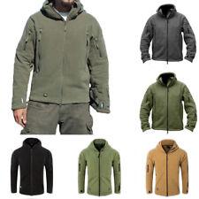 Mens Military Outdoor Fleece Hoodie Coats Tactical Winter Warm Jacket Outerwear
