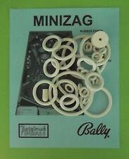 1968 Bally Mini Zag pinball rubber ring kit