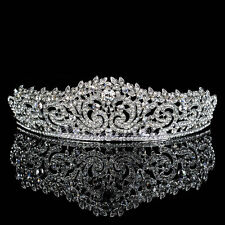 Elegant Wedding Crown Bridal Crystal Tiara Floret Diamante Headband Hair Jewelry
