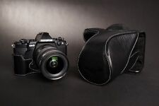 Genunie Real Leather Full Camera Case bag for Olympus OM-D E-M5 EM5 II M2 Black