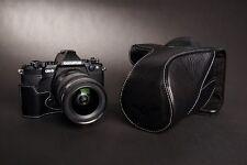 Genunie Real Leather Full Camera Case bag for Olympus OM-D E-M5 EM5 II M2 Black