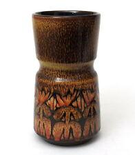 Poole Pottery Aegean Pattern Dumbbell Vase, Silhouette Technique, Shape 84 1970s