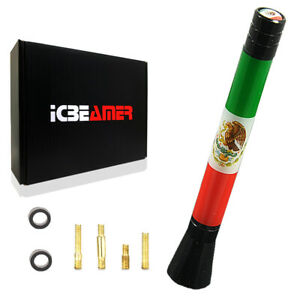 """JDM Mini 5"""" 127mm Mexican Country Flag Universal Fit Vehicle AM/FM Antenna C189"""