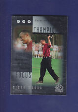 Tiger Woods 2001 Upper Deck Golf SP Authentic Focus on a Champion  #FC1