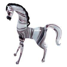 "Lampwork Hand Blown Glass Zebra Figurine 3.75"" High New!"