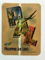 Vintage Philippine Airlines Luggage / Baggage Label