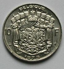 1973 BELGIUM Coin - 10 Francs - Belgique - AU - lustre
