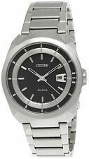 Citizen EcoDrive Mens Watch 50M AW1010-57E Stainless Steel Metal Band UK Seller