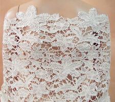 Guipure Broderie Mariage Robe Bordure Ivoire Floraison de Mariée Tissu Dentelle