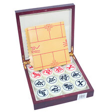"""Chinese Chess Set LARGE SOLID ACRYLIC 1.5""""W HIGH QUALITY SET WOODING CASE"""
