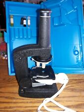 vintage gilbert microscope with case