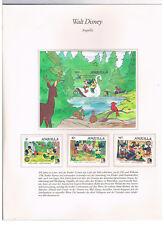 Anguilla,Mi.nrn 670/71,673 + Feuille 65,Walt Disney (Mickey Mouse),neuf