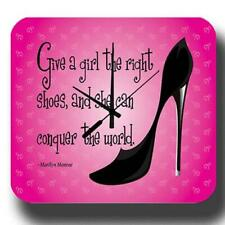 Donner une fille les bonnes Chaussures Marylin Monroe Métal Tin Signe Horloge Murale